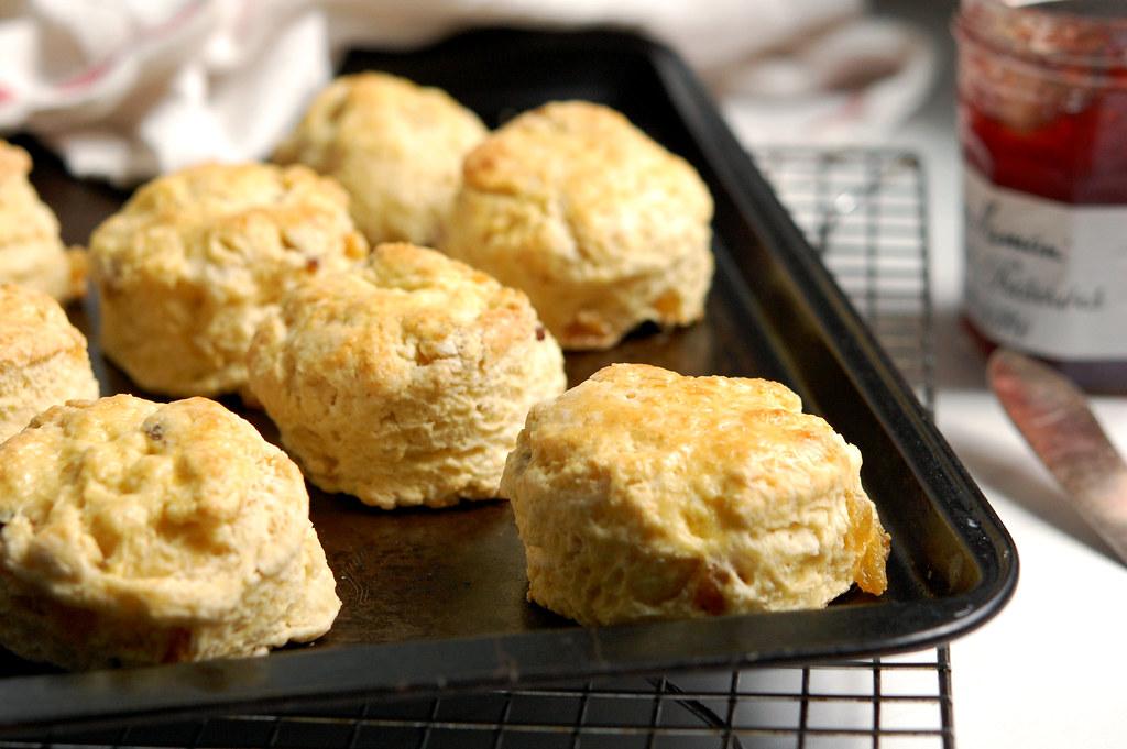 British Royal Scones on baking sheet