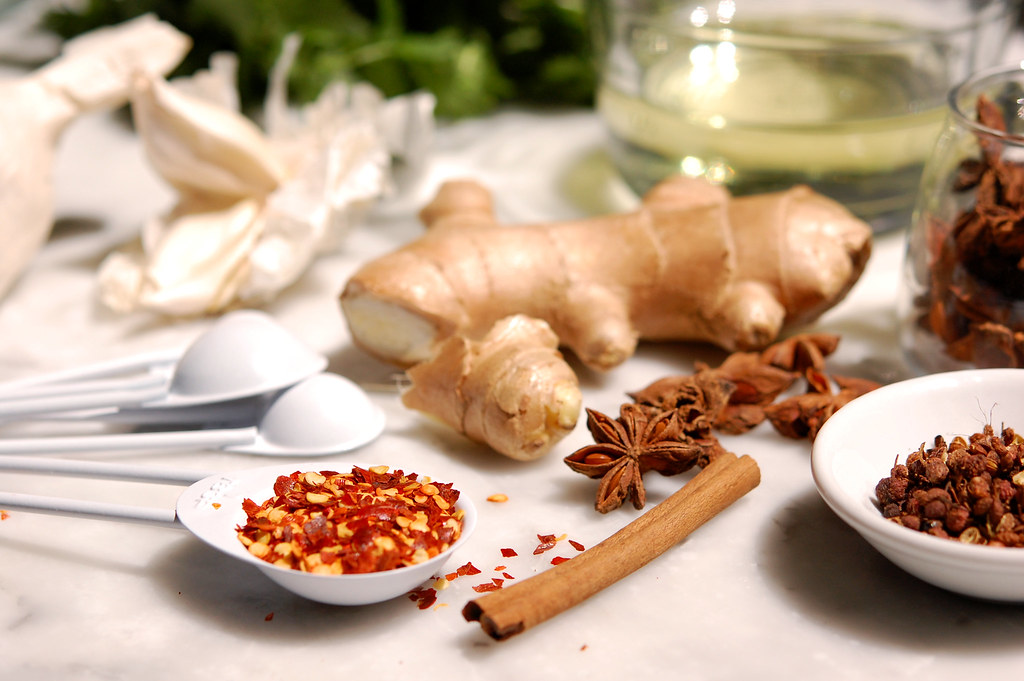 chinese chili oil ingredients hot pepper Sichuan peppercorns garlic ginger star anise