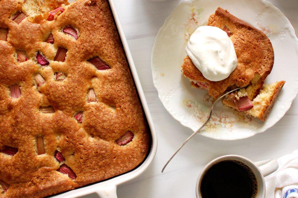 Easy Breakfast Rhubarb Cake
