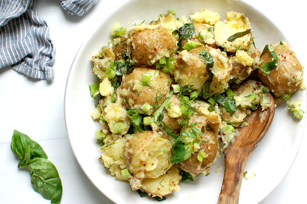 Vegan Herbed French Potato Salad - Easy Recipes
