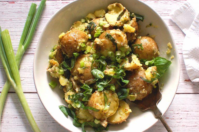 Vegan Herbed French Potato Salad - Vegan Recipes