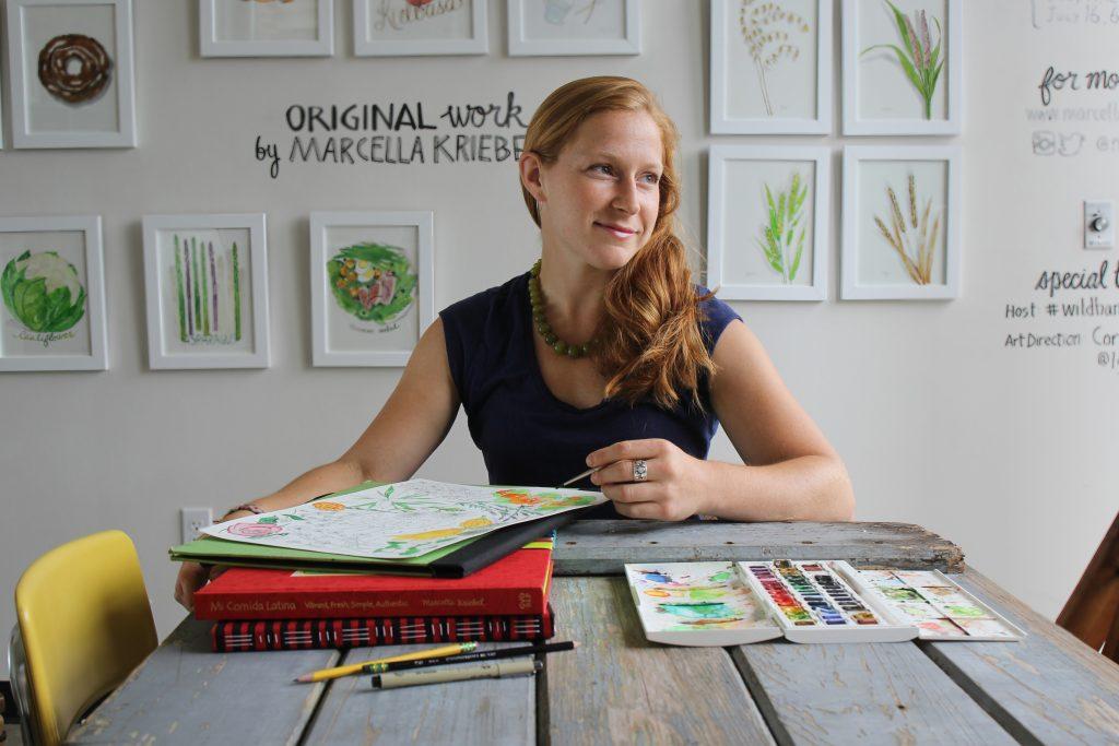 Profiling Marcella Kriebel: Artist, Food Illustrator + Author