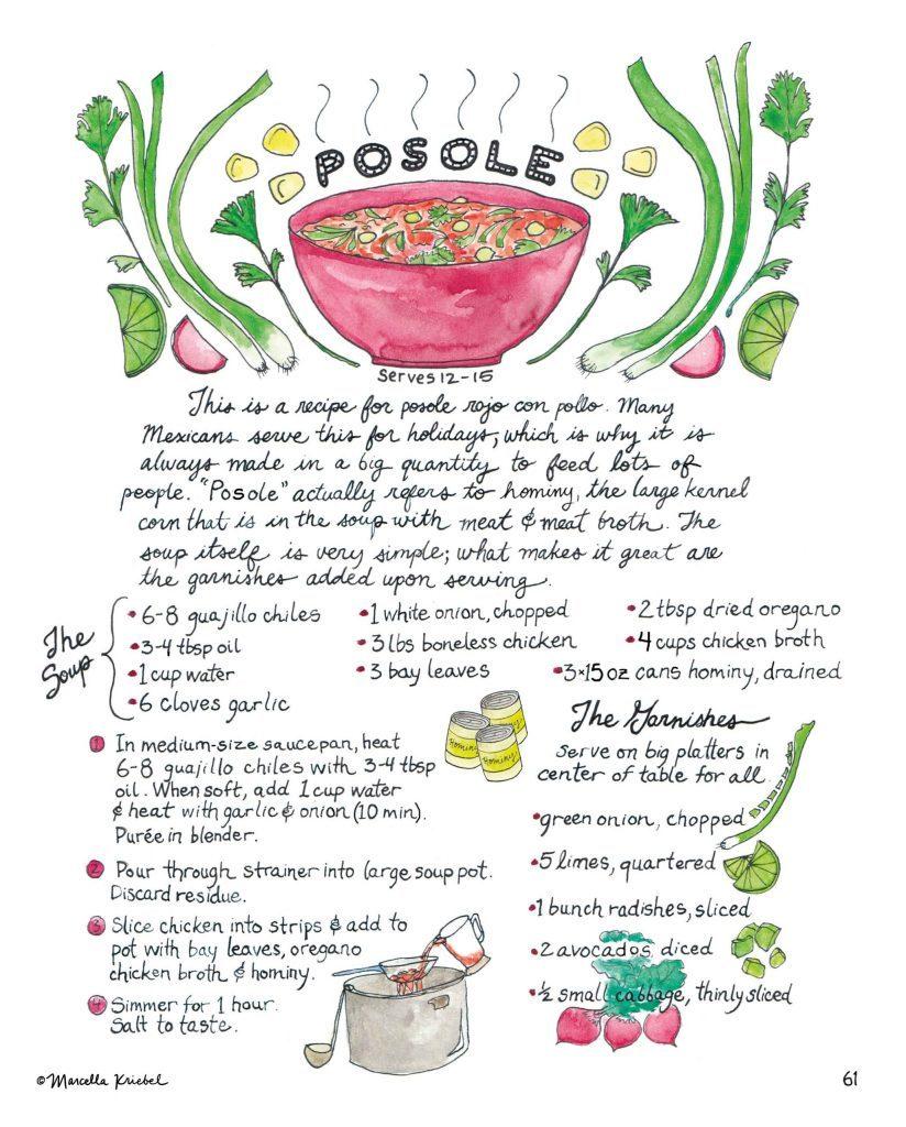 Marcella Kriebel Mi Comida Latina Posole Recipe Illustration - Copyrighted