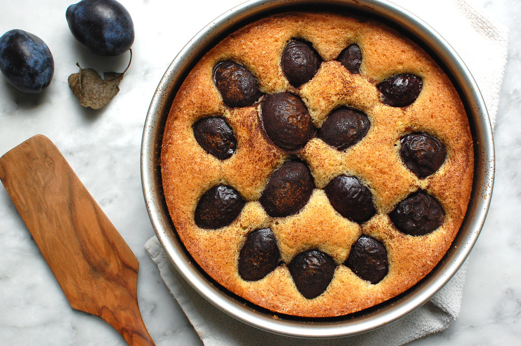 The NY Times Plum Torte in cake pan