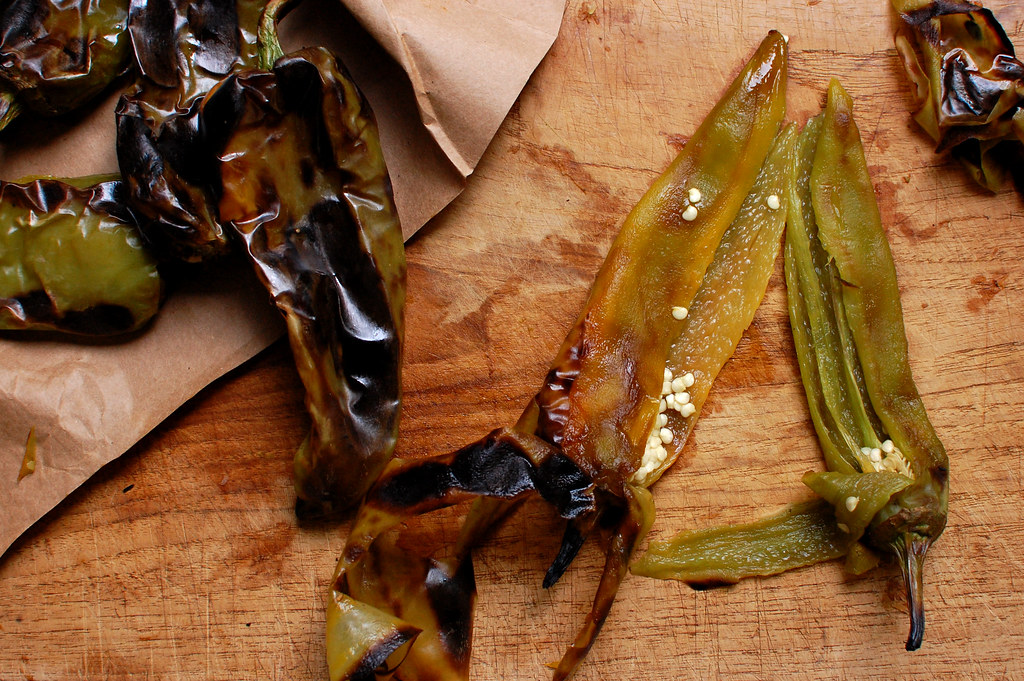 roasted green chile pepper