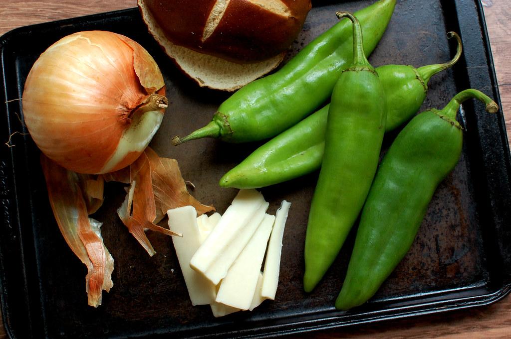 ingredients hatch green chiles jack cheese onion burger bun