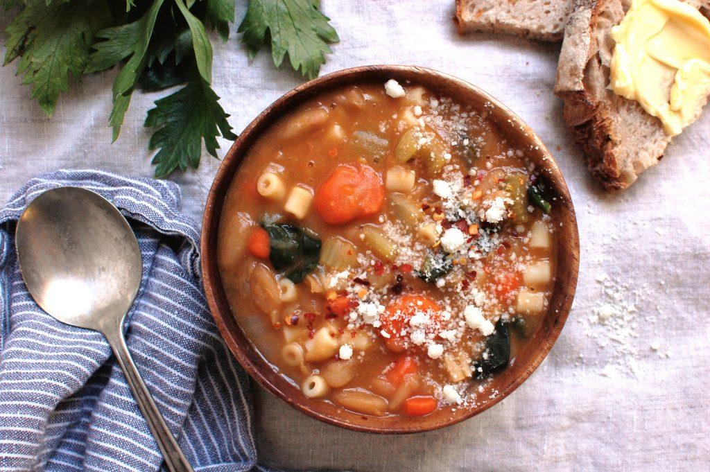Pasta e Fagioli Soup (Pasta Fazool)